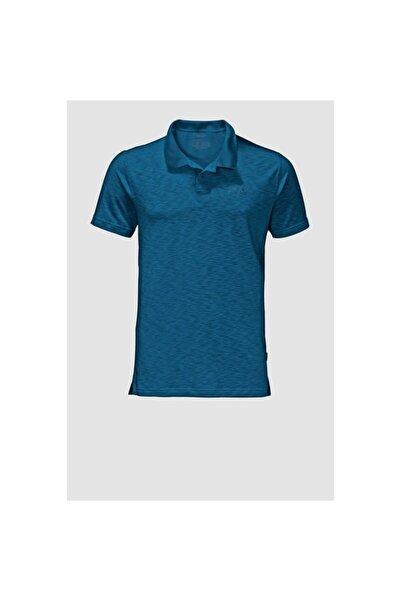 Jack Wolfskin Erkek Mavi Travel T-Shirt 1804542