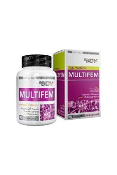 Big Joy Bigjoy Vitamins Multifem Multivitamin 30 Kapsül Skt: 12/2021