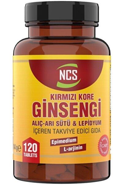 NCS Korean Red Ginseng 120 Tablet Ginkgo Biloba Arı Sütü L Arginin Erkeklere Özel Formül