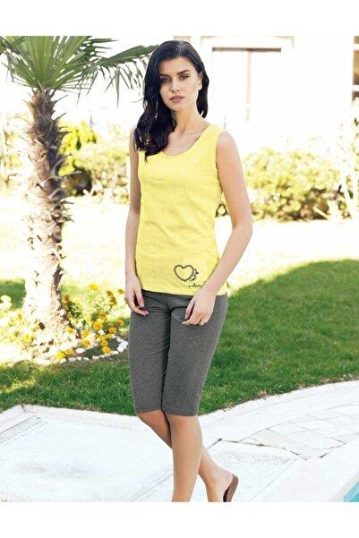 Şahinler Kadın Sarı Askılı Pijama Takım