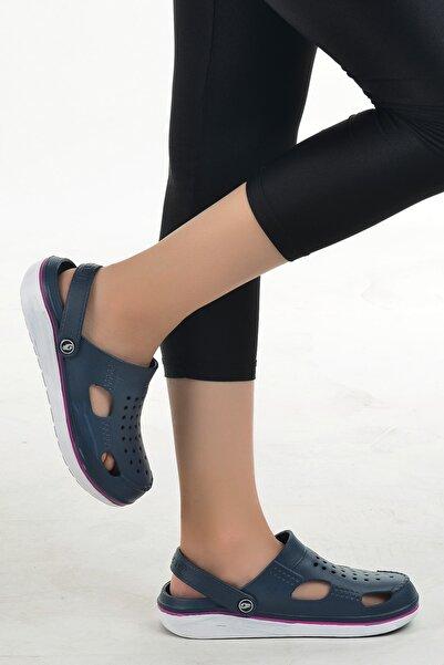 Kadın Lacvert Hastane Ortopedik Sandalet Terlik 12493