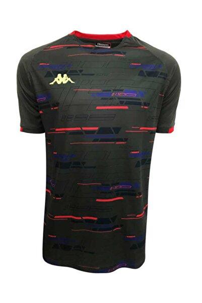 Erkek Gri Dijital Basklı Tshirt - 303Y1M0