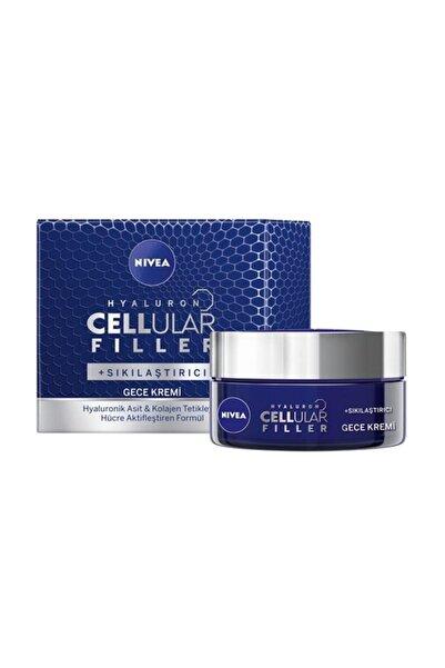 Hyaluron Cellular Fıller + Sıkılaştırıcı Yaşlanma Karşıtı gece Kremi 50 ml