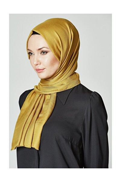 Kayra Kadın Sarı Pamuk İpek Şal