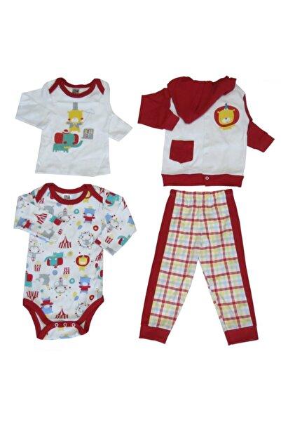 Abentiny Bebek Kırmızı Sirk ve Sevimli Hayvanları Temalı 4 Lü Takım
