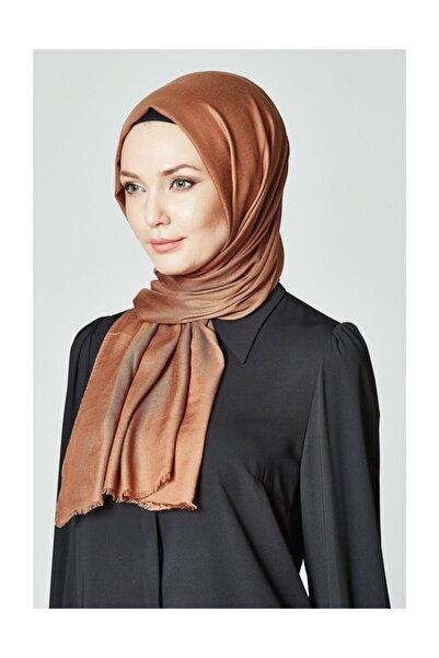 Kayra Kadın Kahverengi Pamuk Ipek Şal Ka-a8-sal20-59