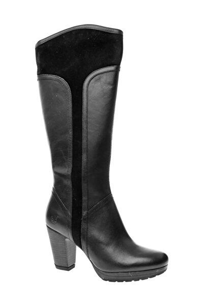 Timberland Siyah Kadın / Kız Çizme 8418a Tımberland Ek Exeter Hts Tall B Black