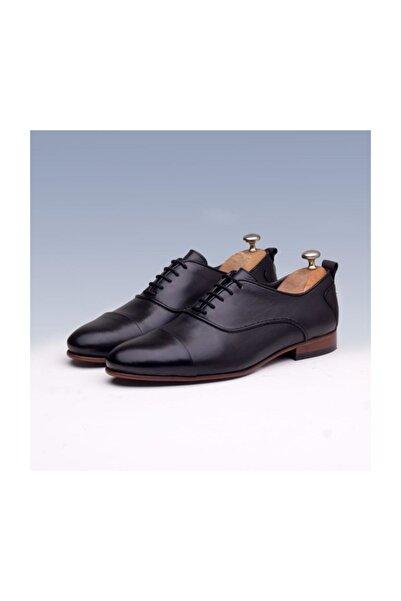 TETRİ Erkek Siyah Deri Klasik Ayakkabı