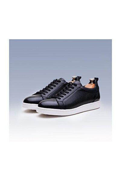 TETRİ Erkek Siyah Deri Spor Ayakkabı