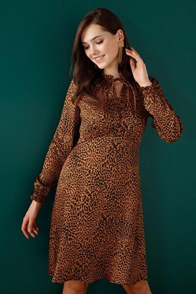 Leopar Tarçın Elbise