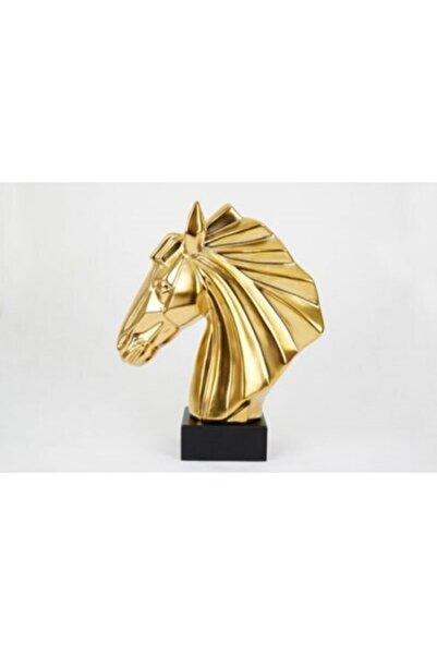 Nehir Altın Dekoratif At Başı