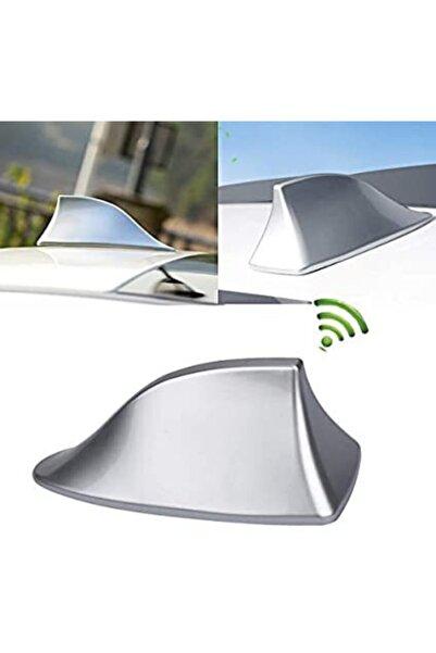 Car19 Elektrikli Shark Köpek Balığı Balina Anten Her Araca Uyumlu - Gümüş Gri