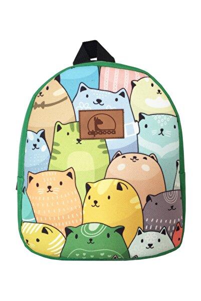 Alpacca Kadın Sarı Renkli Kediler Çanta
