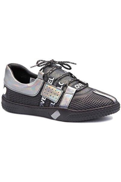 Mammamia Unisex Siyah Günlük Deri Spor Ayakkabı D20a-3555s