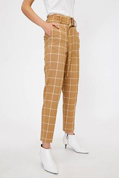 Koton Kadın Kahve Kemer Detaylı Pantolon 0KAK42937UW