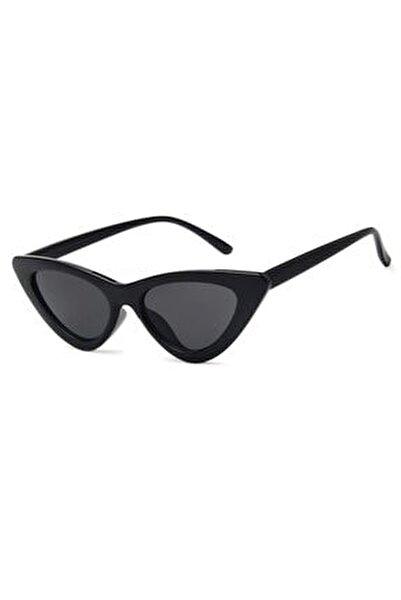 Retro Üçgen Cat Eye Siyah Güneş Gözlüğü