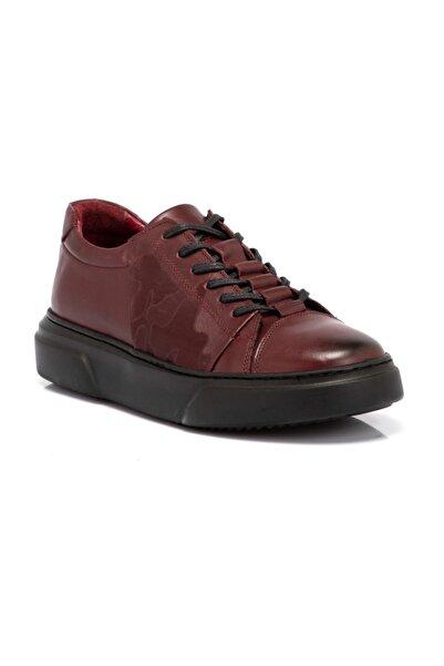 Tergan Erkek Bordo Deri Ayakkabı 54517o8o