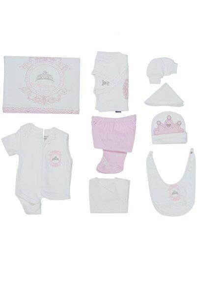 Miniworld Kız Bebek Princess Nakışlı Hastane Çıkış Zıbın Seti Mını14279