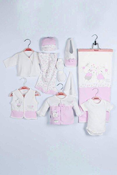 Miniworld Kız Bebek Tavşanlı 10'lu Hastane Çıkış Zıbın Seti 14642