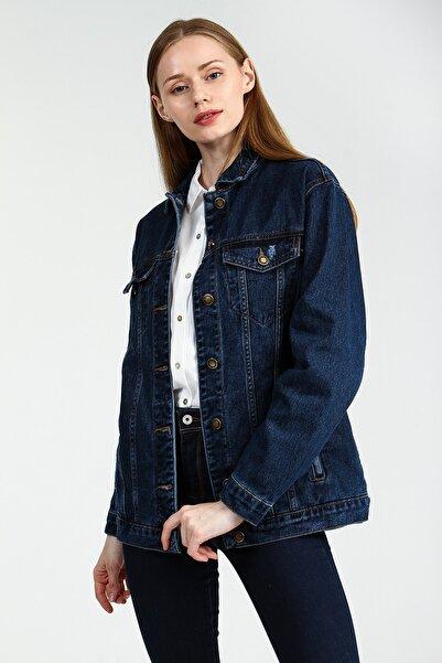 Collezione Koyu Mavi Kadın Koyu Mavi Spor Regular Ceket