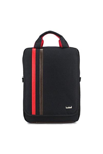 Case Club Fonksiyonlu 15.6'' Laptop Mat Destekli Omuz Askılı Su Geçirmez Kumaş Laptop Çantası