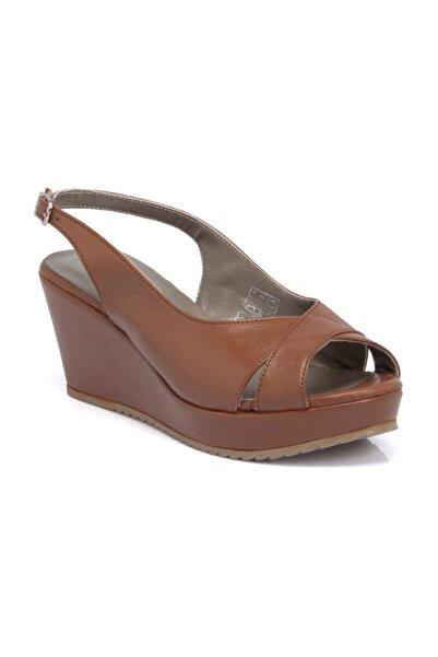 Tergan Kadın Taba Deri Sandalet 64416A29