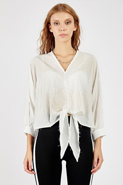 Manche Kadın Beyaz Bluz  Mk20s172035