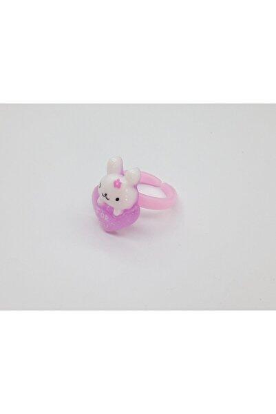 Özel Yapım Kız Çocuk Trendyıldızı Kalp ve Tavşan Figürlü  Yüzüğü