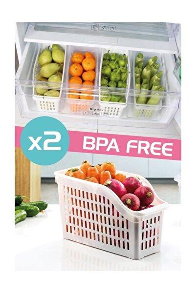 Dünya Plastik 2'li Buzdolabı Düzenleyici Set 07402 Beyaz