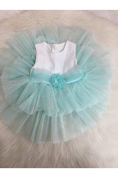 Bebetto Kız Bebek Vual Tüllü Mint Elbise
