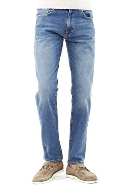 Klasik Kalıp - Regular Fit Serili Kot Pantolon- 5 Cep Serili