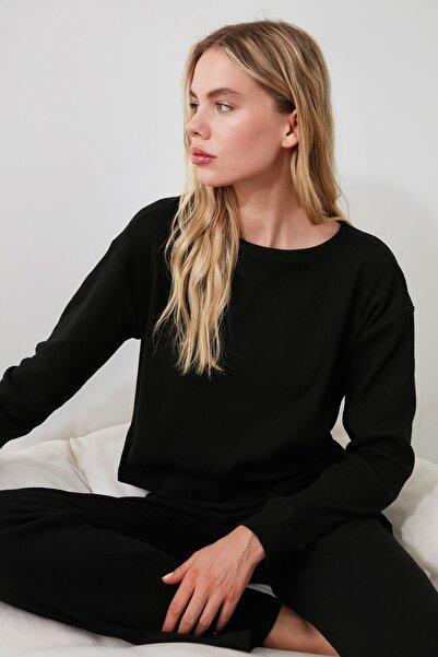 TRENDYOLMİLLA Siyah Kaşkorse Pijama Takımı THMAW21PT0009
