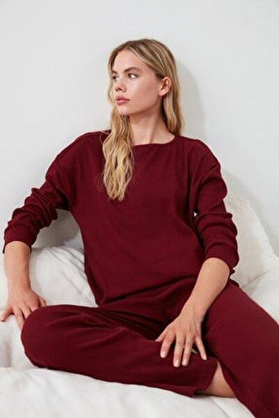Bordo Kaşkorse Pijama Takımı THMAW21PT0009