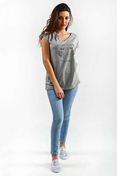 Collezione Kadın Açık Mavi Yüksek Bel Skinny Denim Pantolon