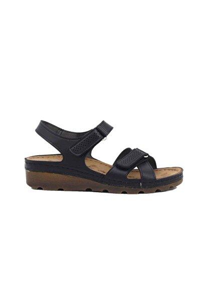 Jump Kadın Siyah Günlük Sandalet 21629