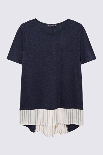 Marks & Spencer Kadın Lacivert Çift Katlı Bluz T41004380X