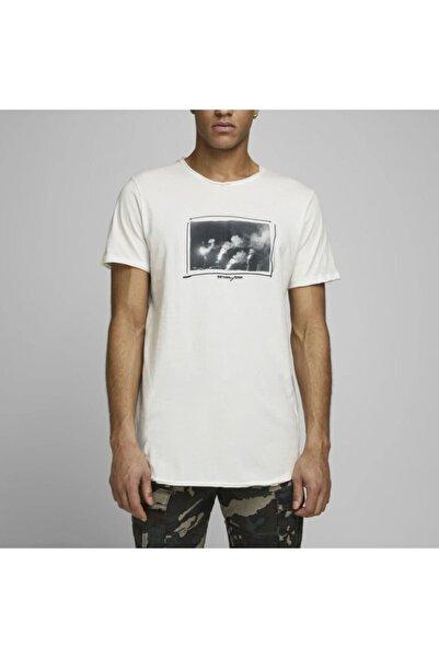 Jack & Jones Erkek Beyaz  Jorpanax Tee Ss Crew Neck Tshirt 12168410