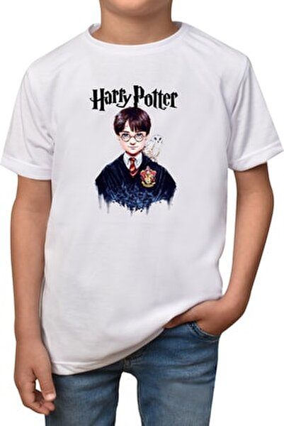 Erkek Çocuk Beyaz Harry Potter  T-shirt T-6