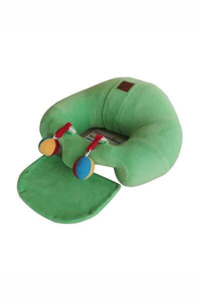 BEBEYATMAZ Çıngıraklı Yeşil Bebek Oturma Destek Minderi