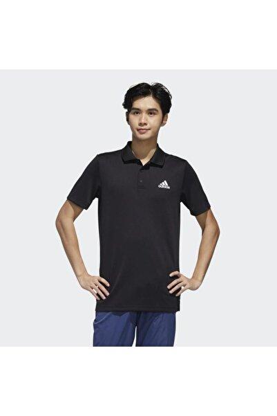 adidas Designed To Move 3-stripes Erkek Siyah Polo Tişört (gl0483)