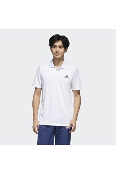 adidas Designed To Move 3-stripes Erkek Beyaz Polo Tişört (gl0484)