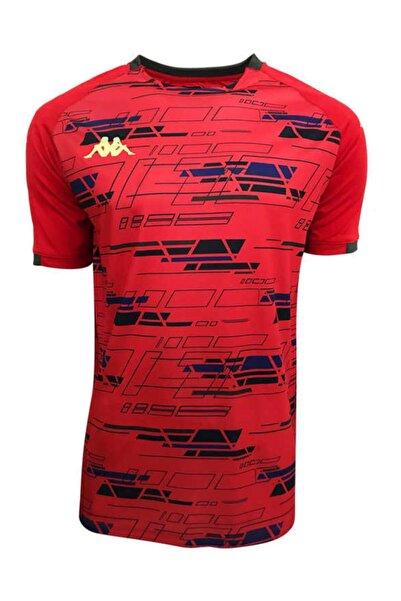 Erkek Kırmızı Dijital Basklı T-shirt