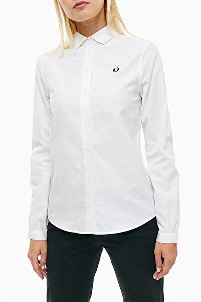 Fred Perry Kadın Beyaz Düğmeli Gömlek