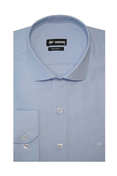 İgs Mavi Regular Fit Gömlek (Klasik)