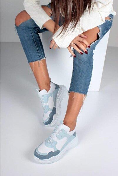 Kadın Bebek Mavisi Spor Ayakkabı Y5623