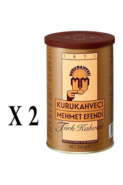 Mehmet Efendi Kurukahveci Türk Kahvesi Teneke 250 Gr X 2 Adet