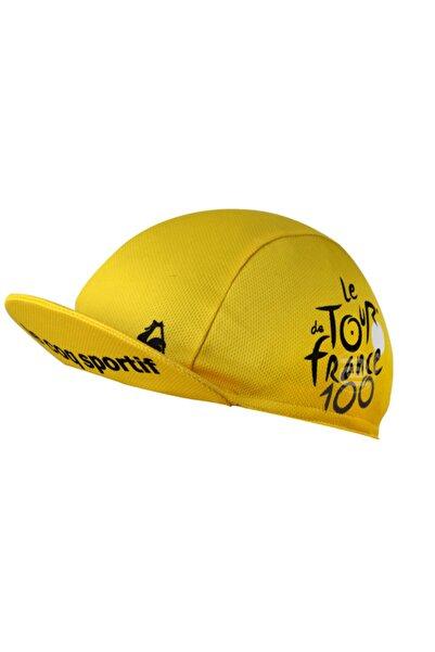 Pozitif Bisikletci Şapkası Sarı