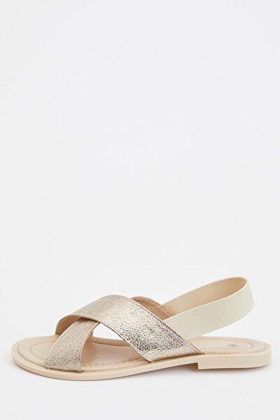 DeFacto Kadın Altın Fashion Sandalet R8920AZ20SP