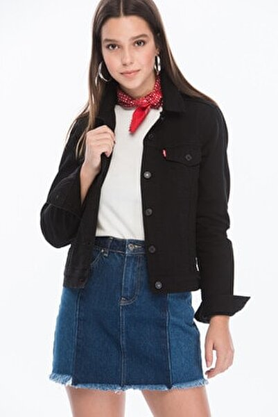 Kadın Siyah Düğmeli Ceket 29945-0038