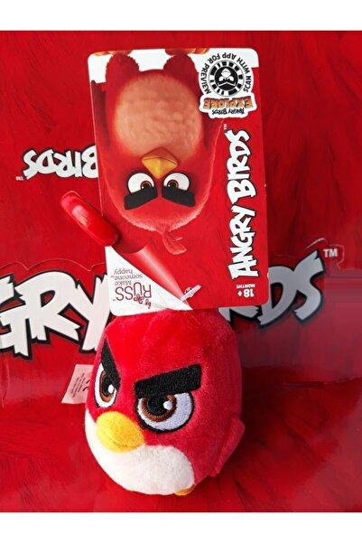 Angry Birds Peluş Siyah Kırmızı Anahtarlık Orjinal Oyuncak